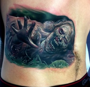 Zombie, The Walking Dead tattoo