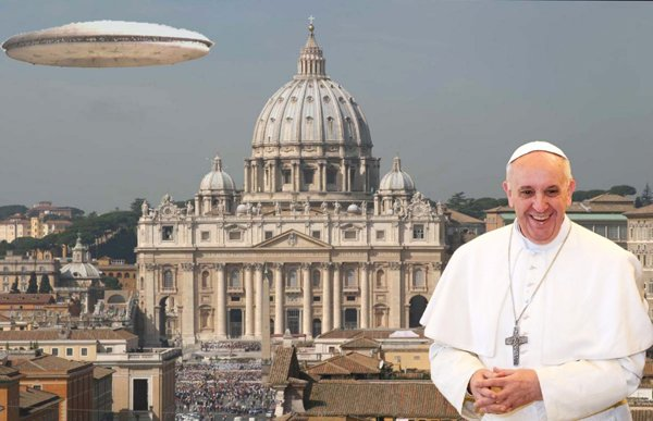 Pope Francis appears 'welcoming' to Aliens.